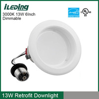 Buy high lumen warm white cool white 6 led recessed lights in ...
