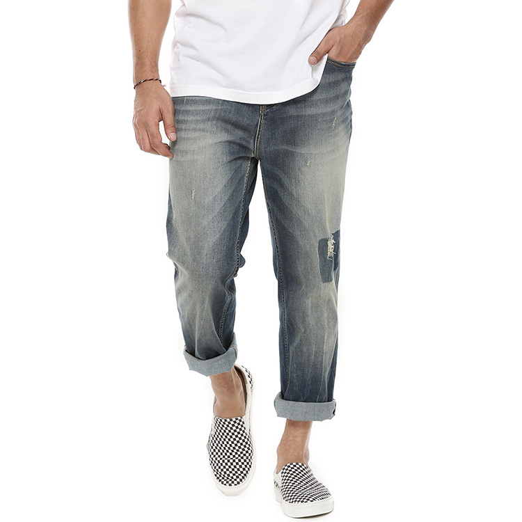 New pattern Italian plus size ripped jeans for men all brand name jeans for men