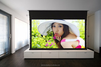 16:9 150 Inch Home Thearter 4K Tab Tensioned Motorized Projetcion Screen / Electric Projection Screen