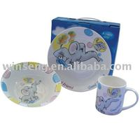 Cute little elephant pattern 3 PCS tea set