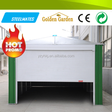 GB Standard colorized galvanized steel car parking shed design