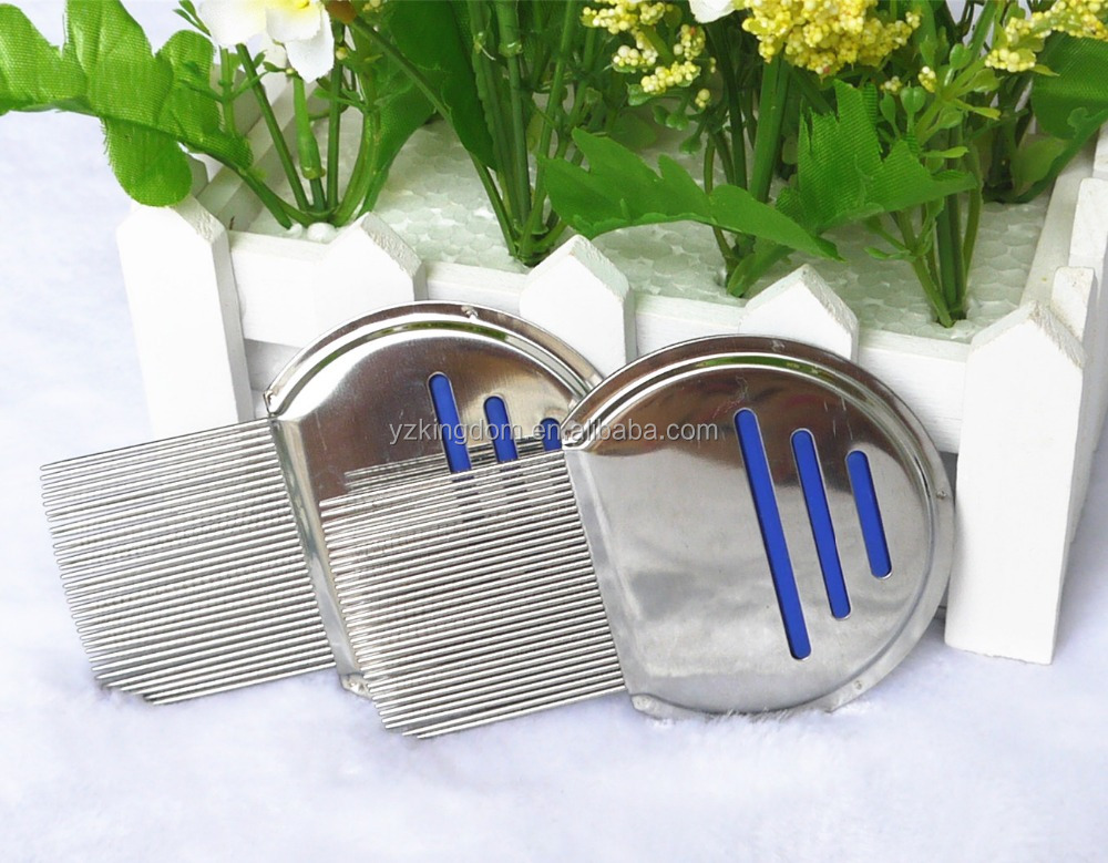 Kid lice comb metal long pins human comb made of stainless steel