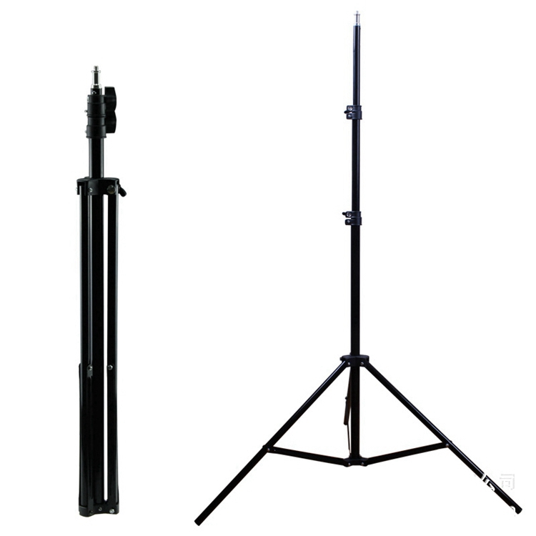 foldable 2 meter light stand phone camera flexible video tripod for photography led lamp