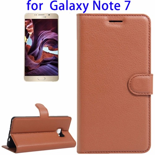 Newest Flip Leather Case for Samsung Galaxy Note 7, for Samsung Note 7 Case