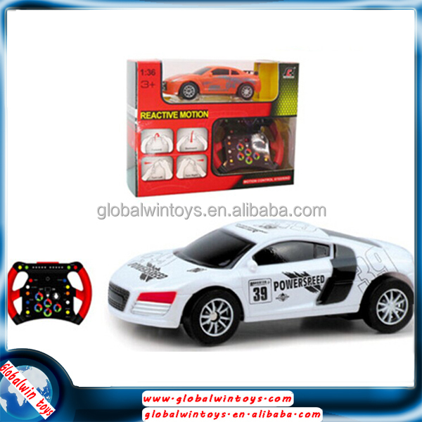 qy0509c hot selling 1:36 4ch reactive motion mini rc racing toys car for kids