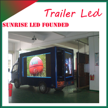 Sunrise outdoor P6 Mobile LED Advertising electric Vehicles