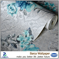 floral vinyl wall paper type embossed purple flowers wallpaper