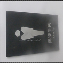 High quality office public indoor /outdoor toliet sign board
