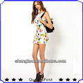 Factory price Veil Patchwork One piece Printed Dress Women Sexy custom