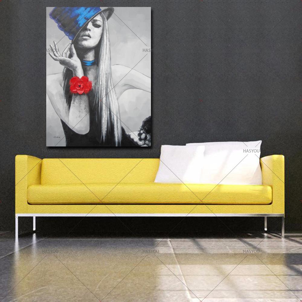 op Art Dancing Women Colorful Beautiful Oil Painting Fashion Girl ...