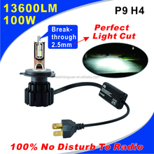P9 13600 Lumen 12V 24V car accessories bulbs 9005 HB3 9006 HB4 100w car led daytime running lights H4 headlight and headlamp