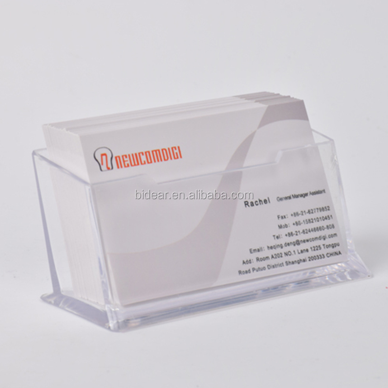 Hot Selling Clear Acrylic Name Card Holder Desktop Business Card Display Stand