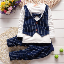 DDE10 2016 hot sale new summer baby clothing set nice quality baby boys clothes fashion new design cotton suits