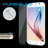 Pureglas Ultra Clear remove air bubbles super guard lcd screen protector for Samsung S6 tempered glass