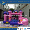 Inflatable bouncer with slide for kidergarten and shopping mall