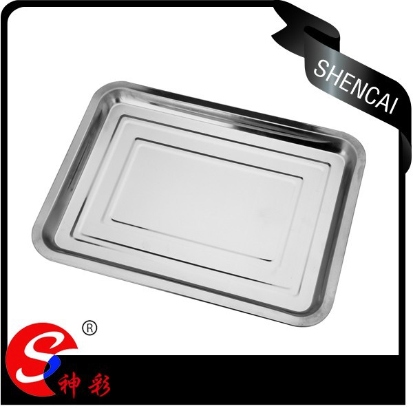 Cheap Price Stainless Steel Serving Tray / Rectangular Tray