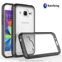 Transparent Clear Acrylic TPU Bumper Mobile Cover For Samsung Galaxy Core Prime Single TPU Gel Case