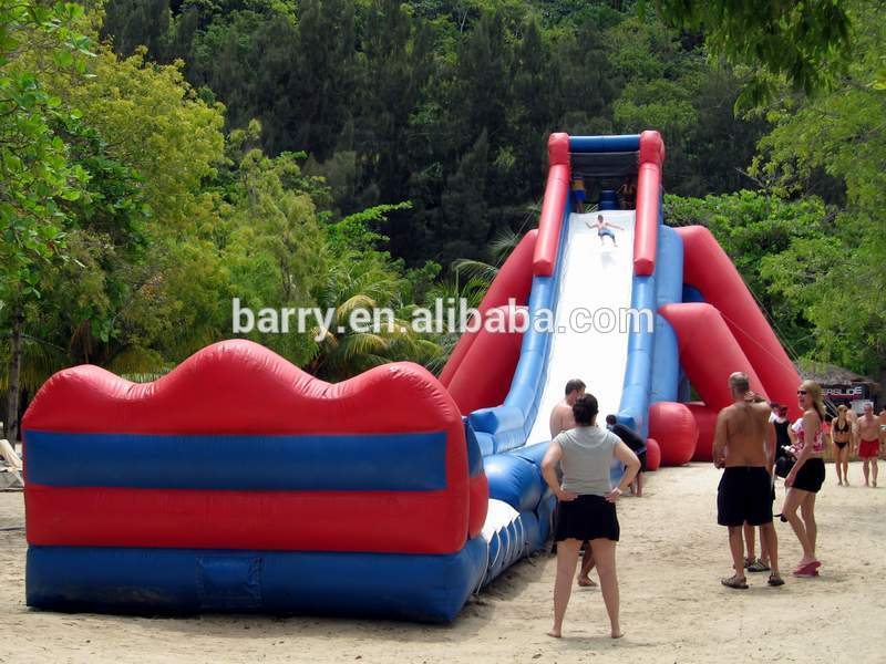 Hot sale cheap red 10m /meter high giant inflatable slides for adult