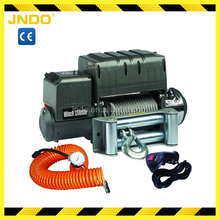Heavy duty 12V 24V utility air compressor winch 12000lb