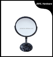top grade 7 inch metal chrome double side sanitary mirror