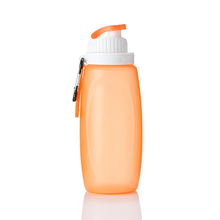 BPA Free 500ml Silicone Collapsible Water Bottle