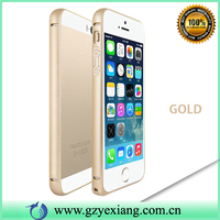 High Quality 3D Curve Aluminum Metal Frame Bumper Case For Iphone5 Gold