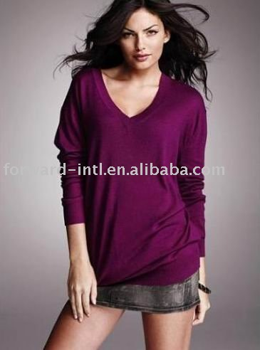 LADIES' CASHMERE/SILK ROOMY JUMPER