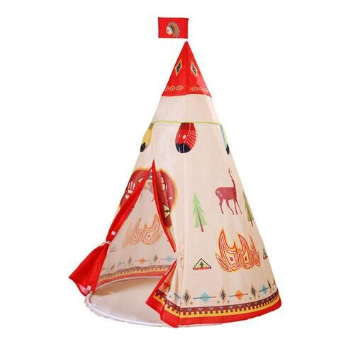 Natural Indian Pattern Children Toy Teepee Safety Portable Kids Indoor Game Outdoor Tourist tent