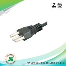 inmetro approved Brazil Plug power cord three pins