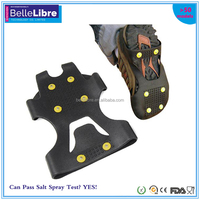 Hot Selling Unisex Anti Slip Snow and Ice Shoe Grips/Cleats Spikes Studded Grippers with 6 Spikes 4 Sizes