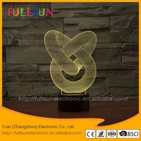 FS-2876 3d light lamp color changing living room led light