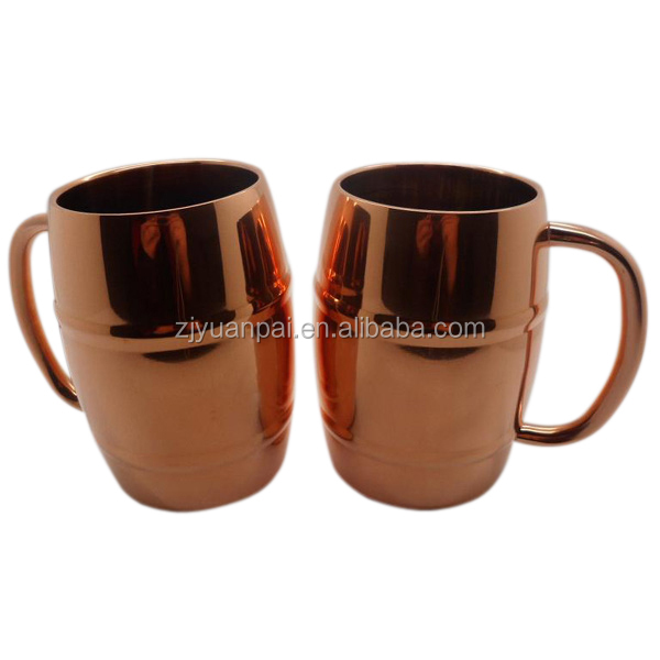 LFGB Stainless Steel Wine Cup With Handle American Cooper Mule Mug Cup