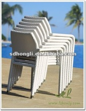 Outdoor furniture all weather metal wicker stacking chairs