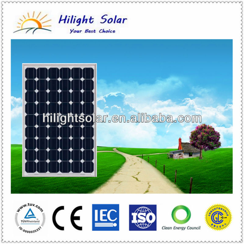 A class solar panel 210W photovoltaic module/panel solar for 10KW solar power system New Zealand