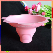 Wholesale shave ice flower cups / plastic flower cups / disposable ice cream cups