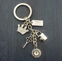 Beautiful various charms pendant keychains,lock&key&crown key ring for handbag decoration
