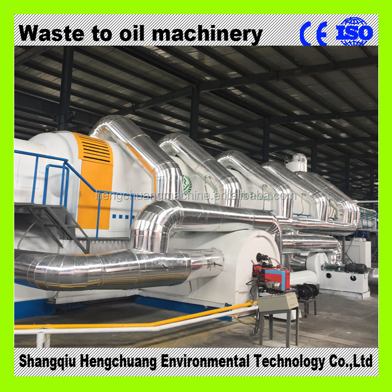 20TPD continuous waste tyre pyrolysis plant with 50% high oil yield no pollution