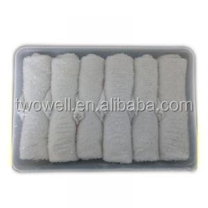 disposable airline hot towel with shrink wrapped package