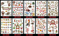 2016 Newest temporary kids Christmas tattoo sticker