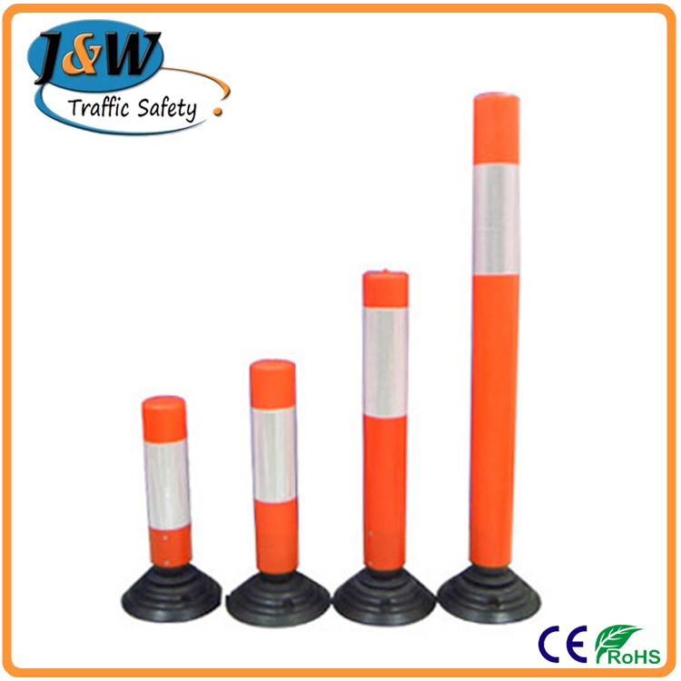 PVC PU Warning Bollard, Delineator Post, Road Safety Flexible Post