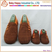 In stock soft sole genuine leather shoes upper baby baba shoes