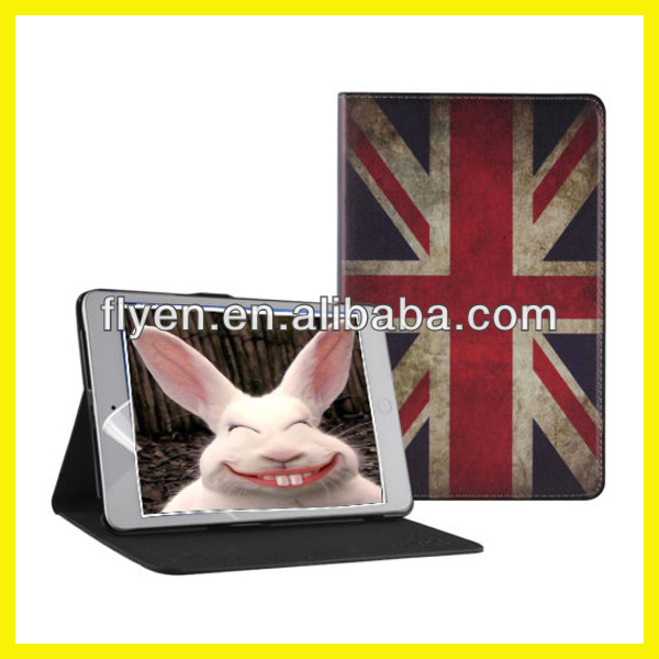 Retro Series Classtic Book Case for iPad air/4/3/2/mini Folio PU Leather Smart Cover W/Stand British National Flag