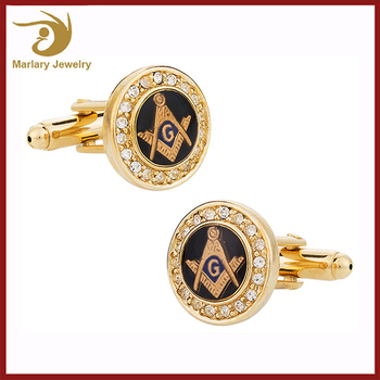Stainless Steel Luxury Cufflinks Value Maker, Gold Replica Masonic Mens Cufflinks Manufacturer