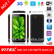 5.0 inch MTK6589 Quad Core Mobile Phone 8M Camera in Private Tooling