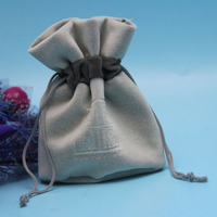 new products drawstring velvet necklace bag for packing