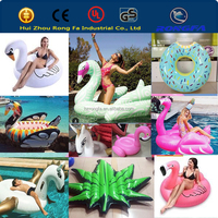 factory made eco-friendly 0.3mm pvc MOQ 1PC swimming pool floats