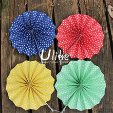 IDEAL ASSORTED COLORFUL NEW YEAR PAPER FAN DECORATIONS