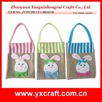 Easter decoration (ZY15Y298-1-2-3 30X16CM) easter party gift bag, easter rabbit linen gift packing bag
