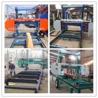 Electric Engine Horizontal Log Portable Band Saw Machine For Wood