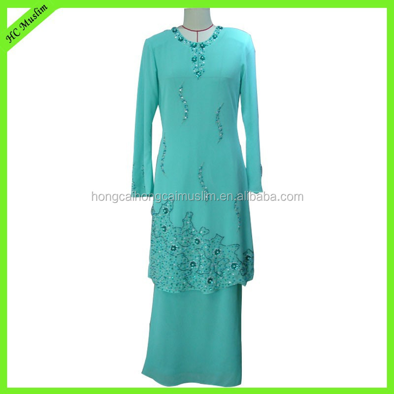 modest muslim islamic women long dress for muslimah